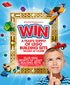 Lego Australia – Win a grand prize of $3,000 worth of Lego Building Sets OR weekly prizes