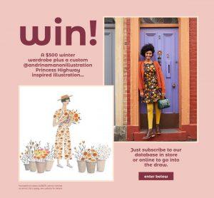 Princess Highway – Winter 19 – Win a $500 voucher PLUS a custom PH inspired Andrina Manon illustration