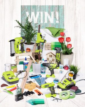 Ryobi – Win a prize pack of tools, batteries, charges and accessories PLUS a $500 Bunnings Warehouse voucher