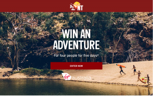Virgin Australia – Win a grand prize of a trip for 4 to Alice Spring OR 1 of 50 holiday vouchers valued at $100 each
