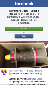 Adventure Quest Escape Rooms – Win this Weeks Pass You Will Need to Like Both Our Pages