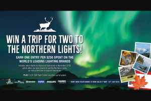 Ashdown Ingram – Win a Trip for Two to See The Mystical Northern Lights In Alaska (prize valued at $26,000)