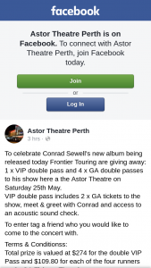 Astor Theatre Perth – Win a Trip for 2 to Hobart for The Dark Mofo Festival (prize valued at $274)