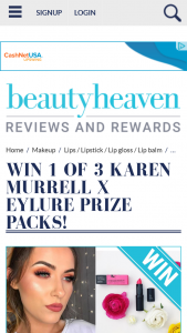 Beauty Heaven – Will Receive a Karen Murrell X Eylure Prize Pack Containing