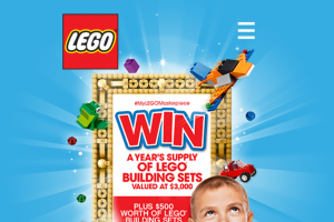 Big W-Lego – Win $500 Worth of Lego Products (prize valued at $5,000)
