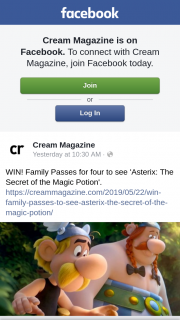 Cream Magazine – Competition