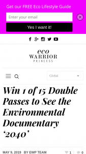 Eco Warrior Princess – 15 Double Passes to Give You and a Friend a The Chance to See It for Yourselves