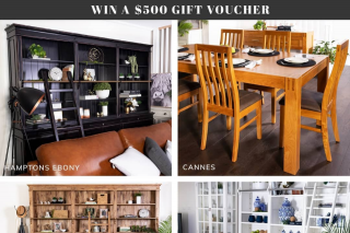 Eureka Street Furniture – Win a $500 Eureka Street Furniture Gift Voucher (prize valued at $500)