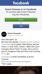 Event Cinemas – Win Ultimate Avengers Event Cinemas #datenight