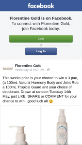 Florentine Gold – Win a 3 Pack