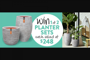 Gardening Australia – Win a Planter Set (prize valued at $248)