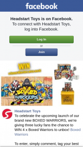 Headstart Toys – Win 4 X Boxed Warriors to Unbox