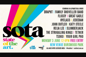 Hit 92.9 – Win a VIP Style Getaway to this Year's Sota Festival on June 3rd at Its New Home at Burswood Park