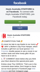 Hoyts Cinemas Stafford – Win a Mother's Day Prize Hamper