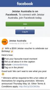 Jetstar – Win a $500 Jetstar Voucher to Celebrate Our Birthday