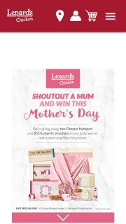 Lenard's – and One to The Mother They Nominate). (prize valued at $358)
