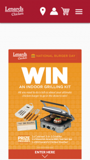 Lenards – Will Be Contacted at 5pm on National Burger Day 28th May (prize valued at $200)