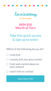 Loveknitting – Win $50aud/$50nzd Voucher (prize valued at $50)