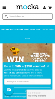 Mocka Australia – Win The Product (prize valued at $2,000)