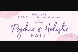 MyGC – Win a $100 Gift Card for Carrara Markets (prize valued at $500)
