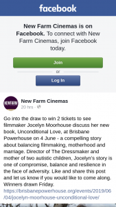 New Farm Cinemas – Win 2 Tickets to See Filmmaker Jocelyn Moorhouse Discuss Her New Book