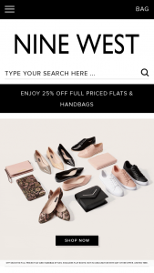 Nine West – Win 1 of 5 Nine West & Ella Bache Prize Packs (prize valued at $1,257.9)