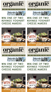 Organic Gardener – Win One of Two Kuvings Yoghurt and Cheese Makers (prize valued at $400)