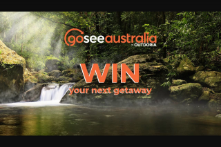 Outdoria-goseeAustralia – Win a $500 Goseeaustralia Voucher (prize valued at $500)