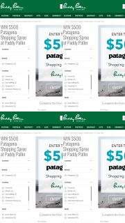 Paddy Pallin – Win Themselves a $500 Patagonia Shopping Spree From Paddy Pallin (prize valued at $500)