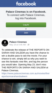 Palace Cinemas – Win a Double Pass to See The Movie