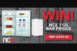Parable Productions – Win a Nce 112 Litre Bar Fridge (prize valued at $399)