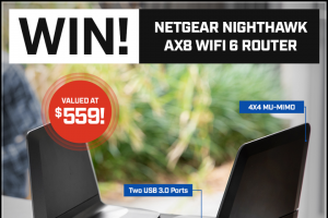 PC Case Gear – Win a Netgear Nighthawk Ax8 Router (prize valued at $559)