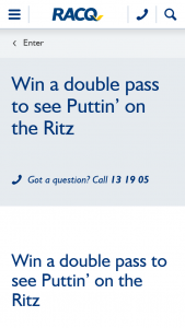RACQ – Win a Double Pass to See The Musical Puttin' on The Ritz at Qpac Or The Star Gold Coast (prize valued at $183.04)