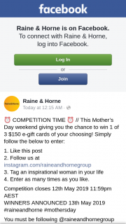 Raine & Horne – Win One of Three $150 Ecards (prize valued at $450)