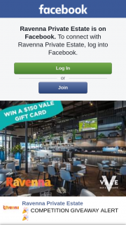 Ravenna Private Estate – Win a $150 Gift Card for The Vale Bar & Brasserie In Beeliar (prize valued at $150)