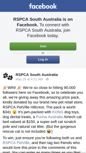 RSPCA SA – this Amazing Prize Pack (prize valued at $150)