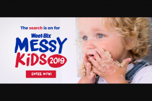 Sanitarium Foods WEET – Win $150.00aud Deposited Into Their Nominated Bank Account and a Weet-Bix Bowl Valued at $10.00. (prize valued at $10)