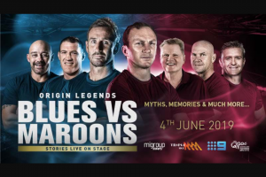 SCA Triple M Brisbane – Win Tickets to The Origin Legends Show at Qpac on Origin Eve