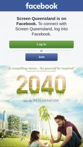 Screen Qld – to The Screening of 2040 Tomorrow Night