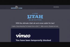 SnowsBest – Win Utah Snow Safari Competition (prize valued at $10,608)