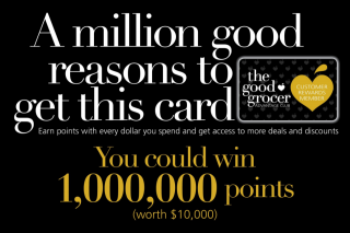 The Good Grocer – Win 1000000 Points ($10000). (prize valued at $10,000)