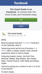 The Good Guide – Win 1 of 10 Ticket to The Festival