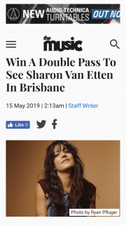 The Music – to Her Gig In Brisbane