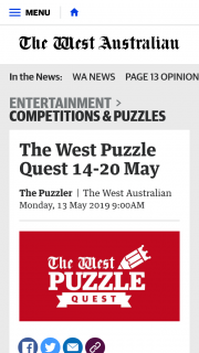 The West Puzzle Quest – Win Tickets to The German Film Festival (prize valued at $1,000)