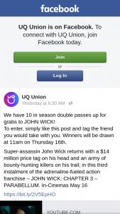 UQ Union – Will Be