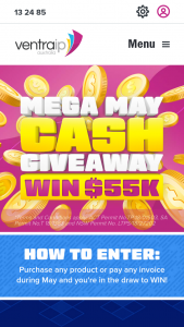 VentraIP – Win Their Share of $100000 In Cash (prize valued at $55,000)