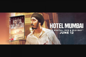 Visa Entertainment – Win 1 of 20 Copies of Hotel Mumbai on DVD