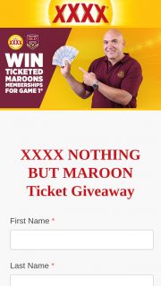 XXXX Gold – Win a Nothing But Maroon Prize Pack