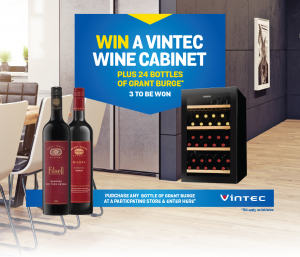 Accolade Wines Australia – Win 1 of 3 prizes of a Vintec Fridge & 24 bottles of Grant Burge wine