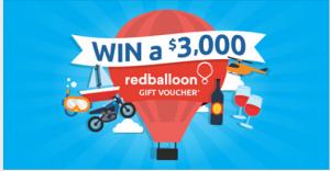 Click Energy – Win a $3,000 RedBalloon Gift voucher